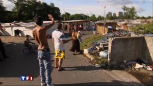 Camp de Roms. Image d'archive