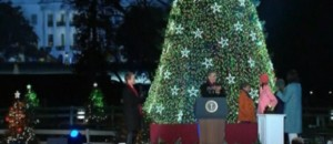 "Obama allume le ""Sapin de Noël national"""