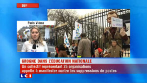 Education : ils manifestent contre les 16.000 suppressions de postes