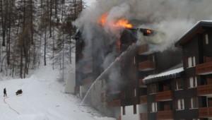 Incendie à la résidence Les Jardins de la Balme à Val d'Isère