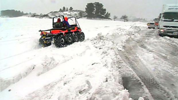 Dans les Alpilles, il est tombé jusqu'à 50 cm, d'où de gros problèmes de circulation