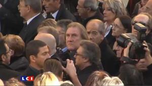 Gérard Depardieu aux obsèques de George Frêche