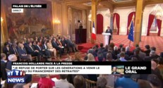 Hollande : &amp;quot;Je refuse de reporter sur les gnrations  venir le fardeau des retraites&amp;quot;
