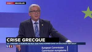 """Juncker sur la Grèce : """"Aucune démocratie ne vaut plus qu'une autre"""""""
