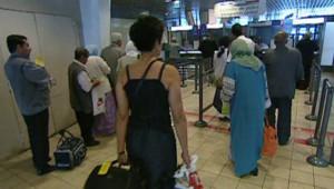 TF1/LCI : Arrivée de voyageurs à l'aéroport de Roissy