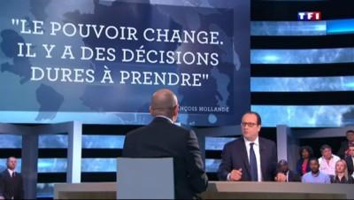 """Hollande sur TF1 : mangeur de frites ? """"Je refuse la vulgarité"""""""