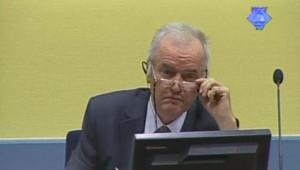 Ratko Mladic à l'ouverture de son procès devant le TPIY, le 16/5/12