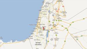 Carte d'Israël avec Jérusalem