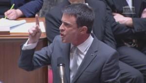 Colère de Manuel Valls
