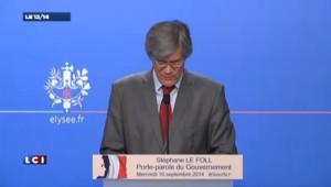 """Economies : """"Un maintien du cap"""" pour Le Foll"""
