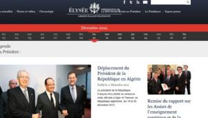 L'Elysée a lancé son nouveau site Internet le 18 décembre.