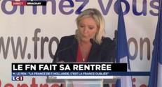 """Le Pen : """"Pas là pour faire plaisir aux commissaires de Bruxelles"""""""