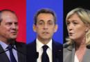 Le Premier secrétaire du PS, Jean-Christophe Cambadelis, le président des Républicains, Nicolas Sarkozy et la présidente du FN, Marine Le Pen.