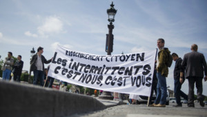 Mobilisation des intermittents du spectacle à Paris. (16/06/2014)