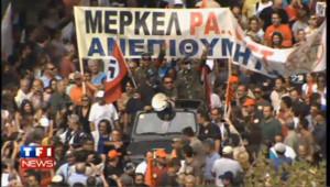 VIDEO : des milliers de manifestants en Grèce contre la venue de Merkel