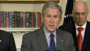 Le président George Bush annonce son plan de relance pour l'économie américaine le 18 janvier 2008