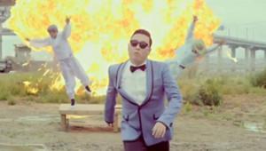 "Capture écran de la vidéo de Psy, ""Gangnam style"""