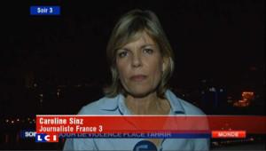 Caroline Sinz, envoyée spéciale de France 3 au Caire le 24 novembre 2011