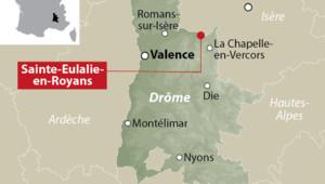 Carte de Sainte-Eulalie-en-Royans, dans la Drôme.