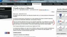 Crash d'un F-16 en Espagne : vive émotion sur Twitter
