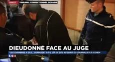 L'arrivée de Dieudonné au tribunal correctionnel de Paris