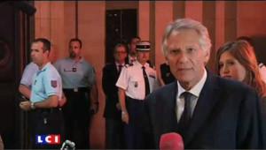 Villepin à son arrivée au palais de justice de Paris