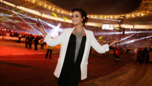 Priscilla Betti en mai 2015 au Stade de France
