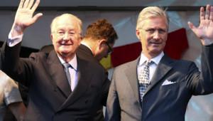 Belgique : le roi Albert II et son fils Philippe, la veille de la passation de pouvoirs, le 20/7/2013