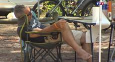 Le 13 heures du 6 juillet 2015 : Canicule : chaleur sous les tentes et les mobil homes - 81