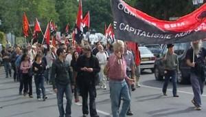 TF1-LCI: manifestations en soutien au faucheur OGM, refusant de se soumettre au test ADN