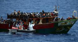 Un bateau de migrants au large de l'Italie