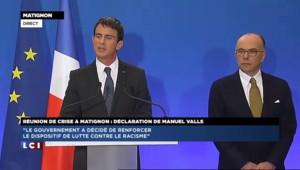 """Valls : """"Nous n'offrirons pas la victoire de la peur à ceux qui veulent fragiliser la démocratie"""""""