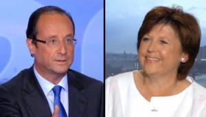 François Hollande et Martine Aubry PS primaire