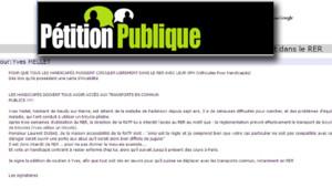 L'appel d'un homme atteint d ela maladie de parkinson pour avoir un libre accès au RER, diffusé sur le site petitionpublique.fr (12 mai 2012)