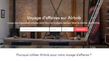 """La page de """"une"""" du site d'Airbnb a destination des entreprises"""