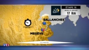Tour de France : Un contre-la-montre entre Sallanches et Megève pour la 18e étape