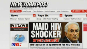 Une du New York Post sur l'affaire DSK.