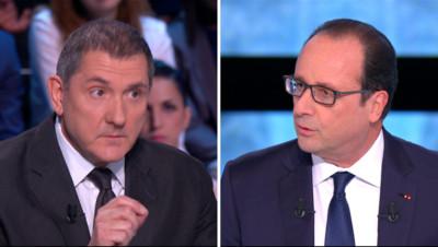 Yves Calvi face à François Hollande dans En Direct avec les Français