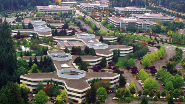 Le campus de Microsoft à Redmond