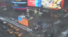 Time Square juste avant la tempête de neige, le 26 janvier.