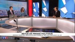Jérôme Chartier fait sa revue de presse : drapeaux français, François Fillon à la primaire, nucléaire en Corée du Nord