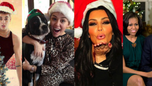 Rihanna, Justin Bieber, Michelle et Barack Obama, Kim Kardashian, Heidi Klum, Miley Cyrus, Torri Spelling, Mariah Carey souhaitent un joyeux Noël 2012 à leurs fans sur Twitter.