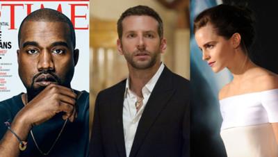 Kanye West, Bradley Cooper et Emma Watson.