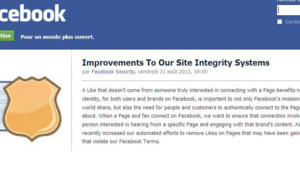 Le communiqué paru sur la page Facebook de l'équipe en charge de la sécurité sur le site.