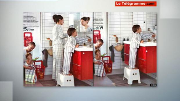 Comparaison des catalogues Ikea, version suédoise et saoudienne.