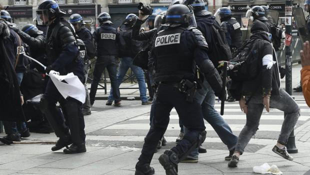 Manifestations anti-loi travail à Rennes, le 28/04/16