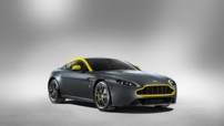 Aston Martin V8 Vantage N430, version inspirée de la GT4 au moteur 436 chevaux, présentée au Salon de Genève 2014