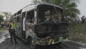 bus Colombie accident