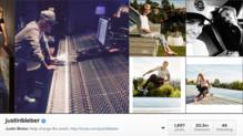 Capture du compte Instagram de Justin Bieber
