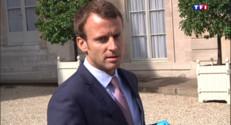 Le 20 heures du 2 septembre 2015 : Emmanuel Macron critique l'indemnité de Michel Combes - 1023